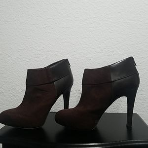 Jessica Simpson suede leather ankle boot high heel
